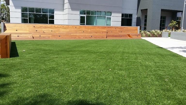 Tech synthetic turf install