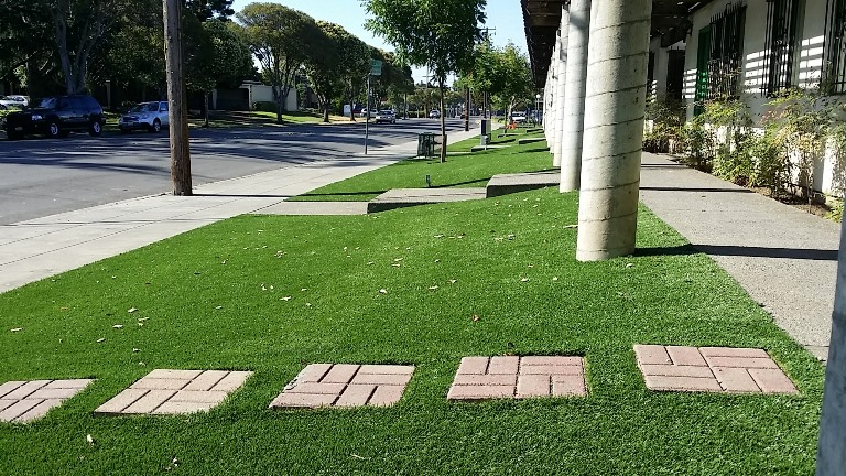 Hospital synthetic grass install