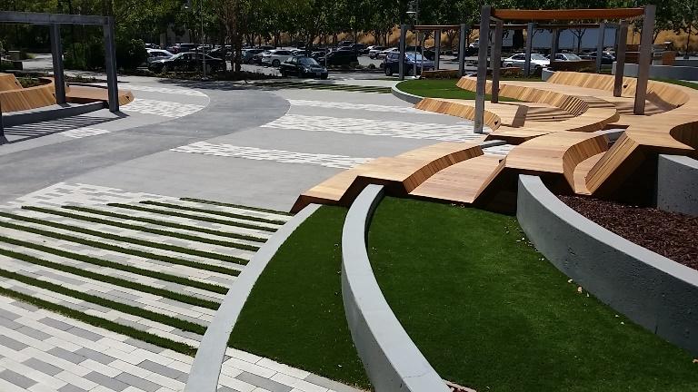 Tech artificial turf install