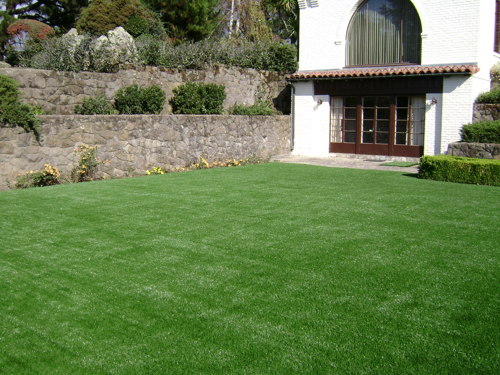 No more thatch with artificial turf!