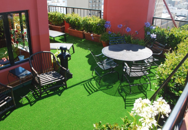 Delicieux Patio Deck Rooftop With FieldTurf, Lovely