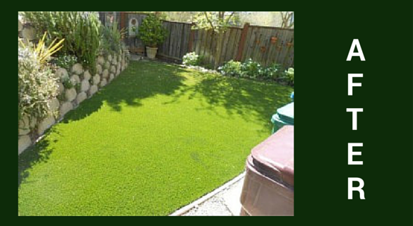 artificial lawn after install