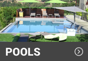 pool surrounding by synthetic turf