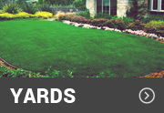 synthetic grass on a yard