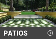 synthetic grass used for patio area