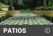 artificial grass used in a walkway area with a unique design