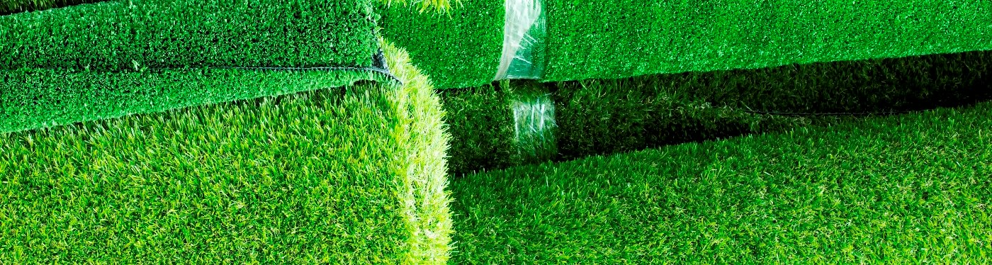 rolls of artificial turf