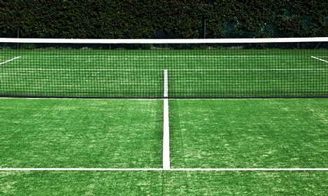 Tennis L Synthetic Grass Tennis Court