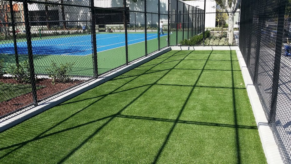 synthetic turf on bocce ball court