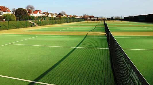 Tennis L Synthetic Grass Tennis Court