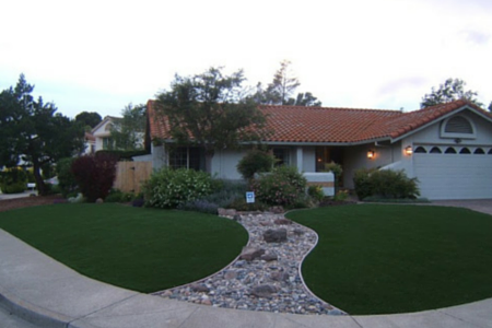 artificial grass on lawn