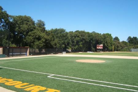 artificial grass on baseball field