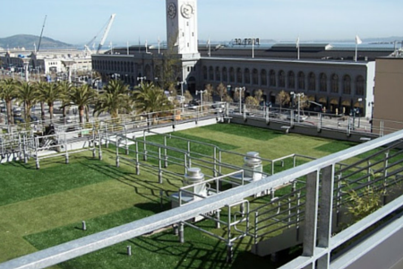 artificial turf on a rooftop
