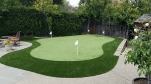 Artificial Putting Green made from artificial turf in Los Altos