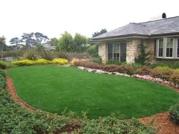 Beautiful yard with artificial turf in brisbane california