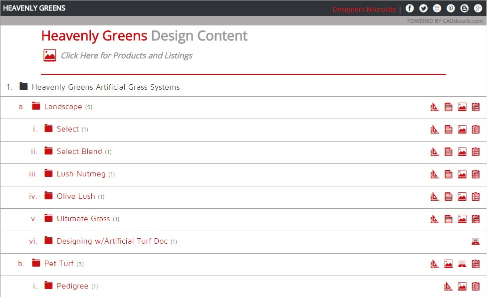 synthetic grass CAD details page