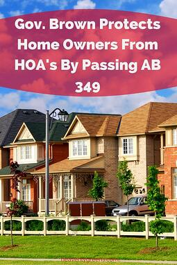 Gov. Brown Protects Home Owners From HOA's By Passing AB 349 http://www.heavenlygreens.com/blog/gov.-brown-protects-home-owners-from-hoas-by-passing-ab-349 @heavenlygreens