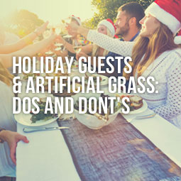 outdoor holiday party and guests do's and don'ts on artificial grass