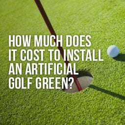 artificial golf green - how much does it cost to install