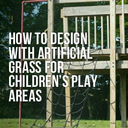 childrens play area on artificial grass