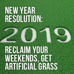 lush green artificial grass and how installing it can help you achieve your 2019 new year's resolution to reclaim your weekends