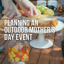 outdoor tea party for mother's day