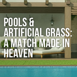 Perfect combination of pool and artificial grass