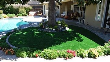 San Jose Back Yard with artificial turf