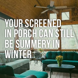Your Screened In Porch Can Still Be Summery In Winter http://www.heavenlygreens.com/your-screened-in-porch-can-still-be-summery-in-winter @heavenlygreens