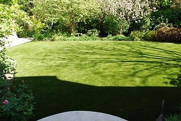 back yard with artificial turf in brisbane california