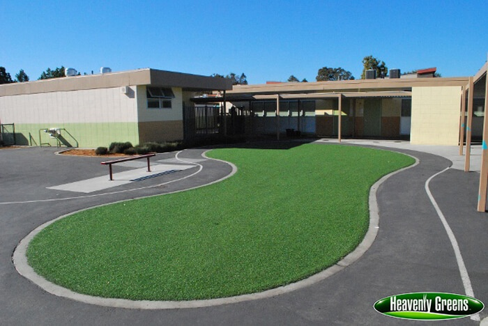 synthetic turf at a school