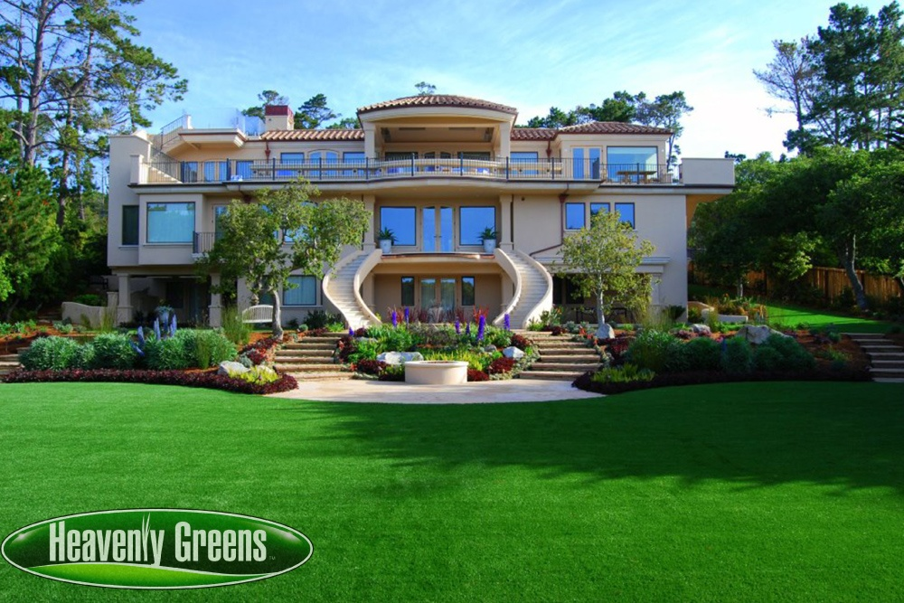 Fake grass for beautiful front yard