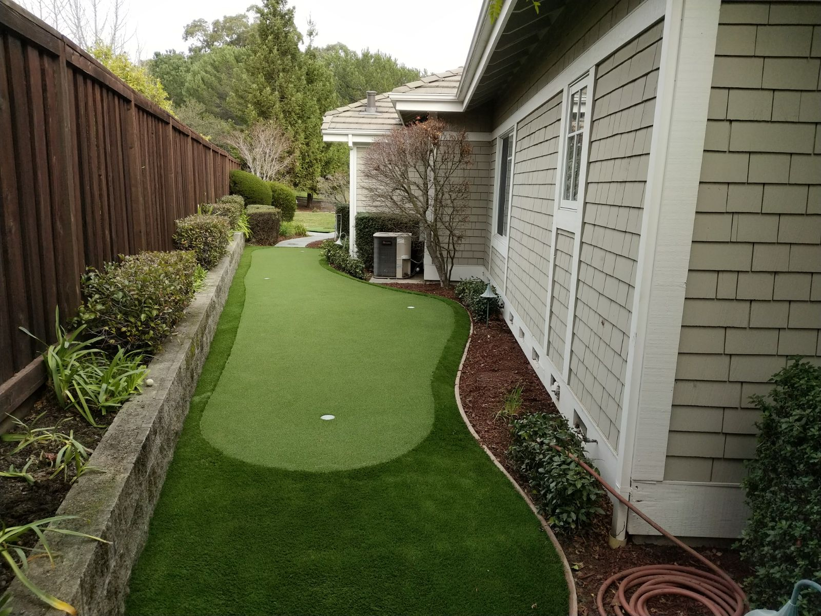 artificial putting green installed in cupertino, California Lawn