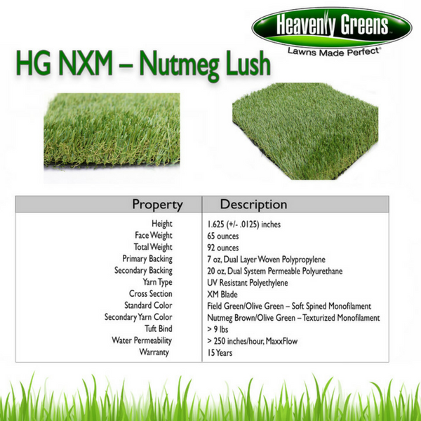 HG NXM Artificial Grass Spec