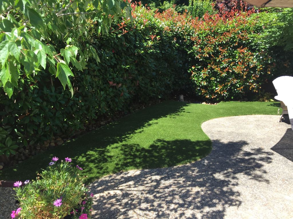 Artificial Turf Installed Around Patio in Napa