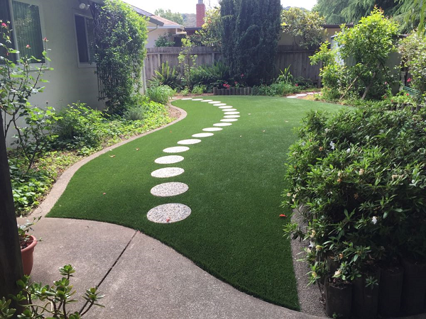 artificial turf installed in napa, california lawn