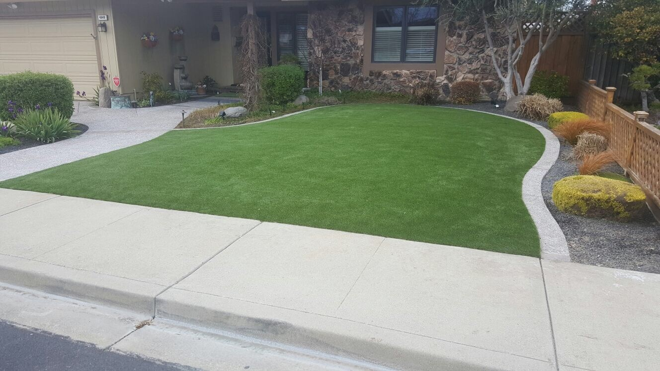 artificial grass installed in San Jose, california lawn