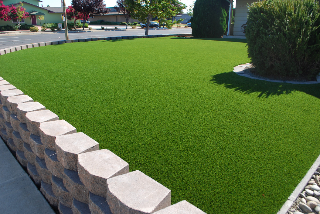 artificial turf installed in an san ramon, california lawn