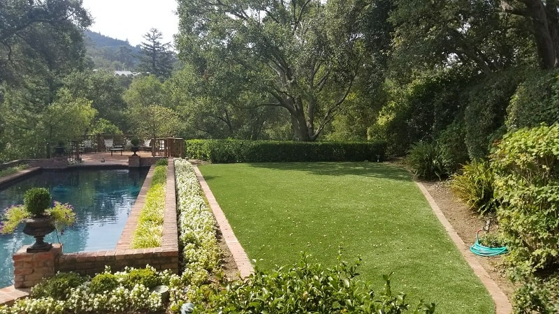 Event Space with Synthetic Turf in Saratoga, CA