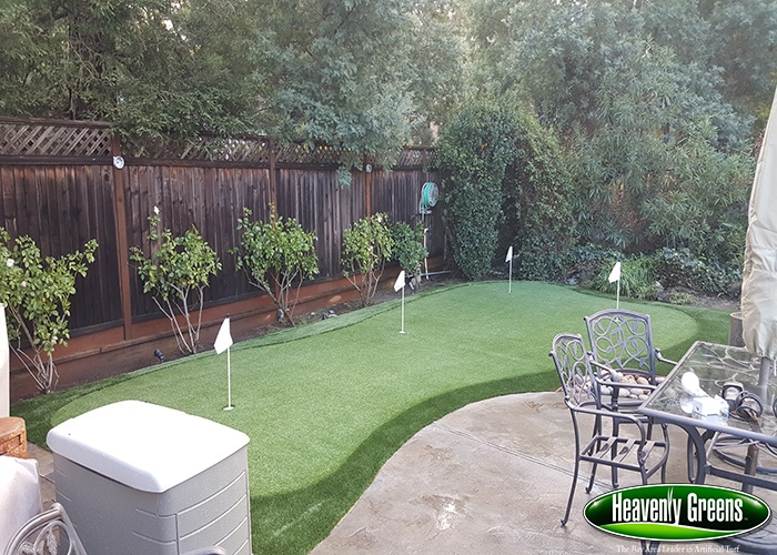 backyard golf green