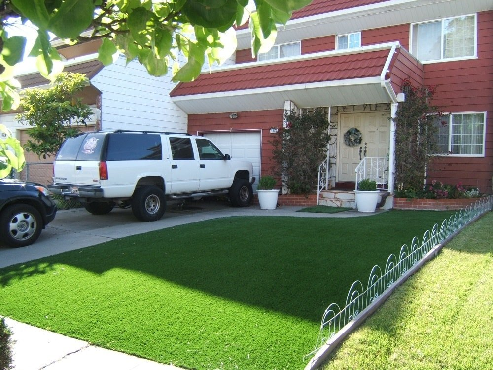 artificial grass installed in a Berkeley, california yard