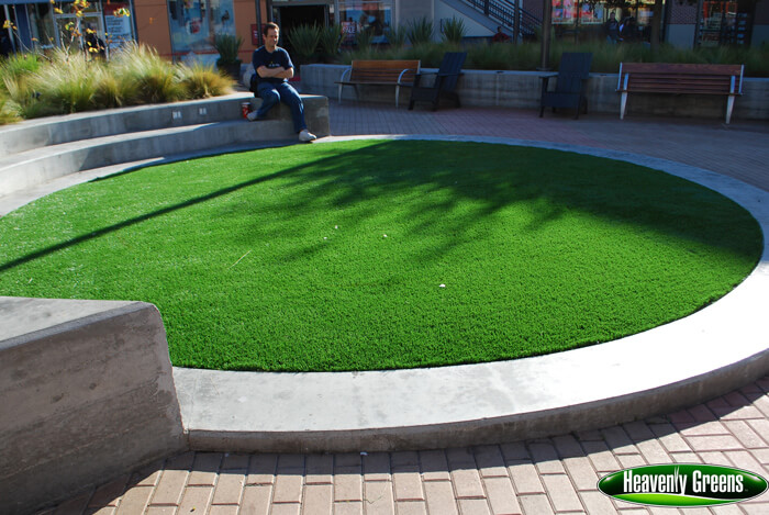 synthetic turf in outdoor common area