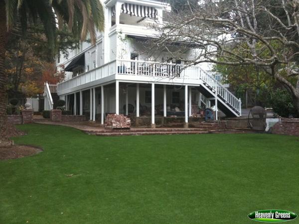 Event area using artificial grass