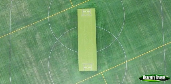 artificial turf for a cricket field