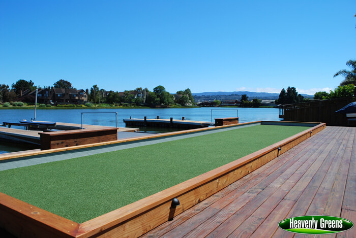 artificial grass for bocce ball court
