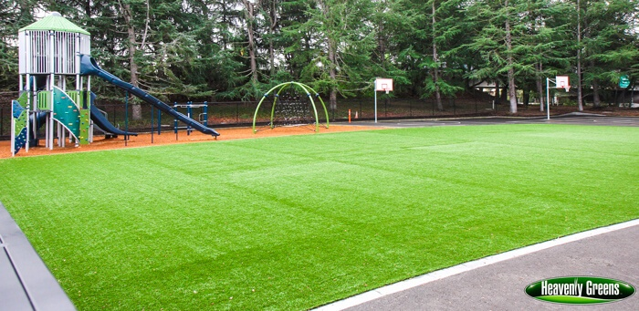 synthetic turf for playground flooring