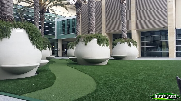 synthetic turf on commercial property