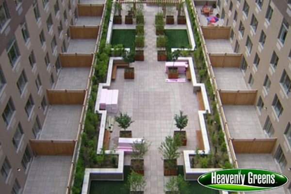 artificial turf in a commercial common area