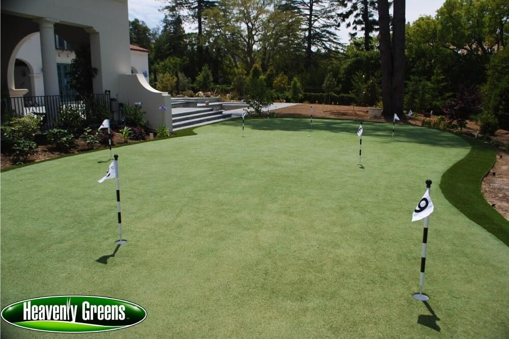 backyard golf green