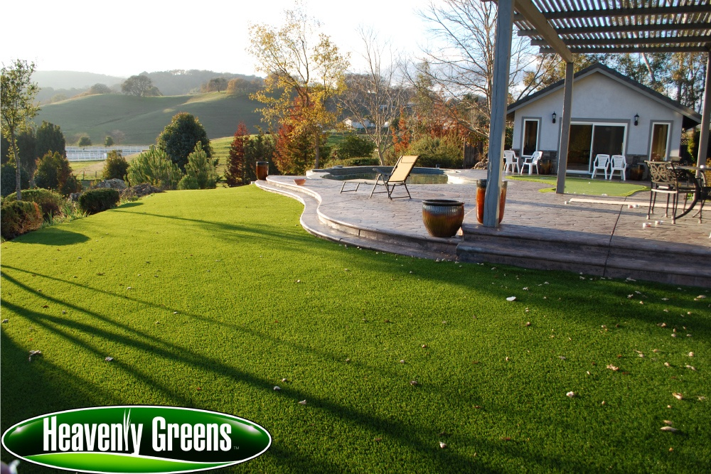 artificial turf for backyard area